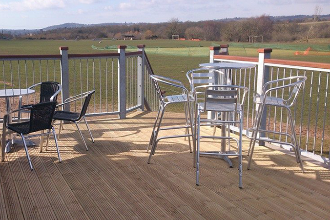 View from Cookley Sports Club decking